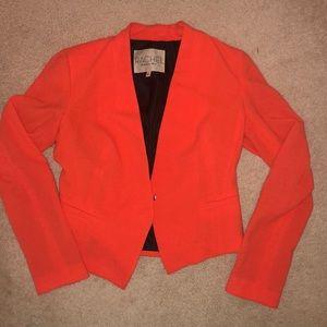Rachel Roy cropped orange blazer